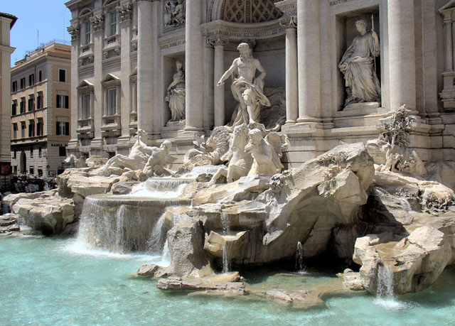 building fountain landmark ancient rome water feature ancient history statue monument stone