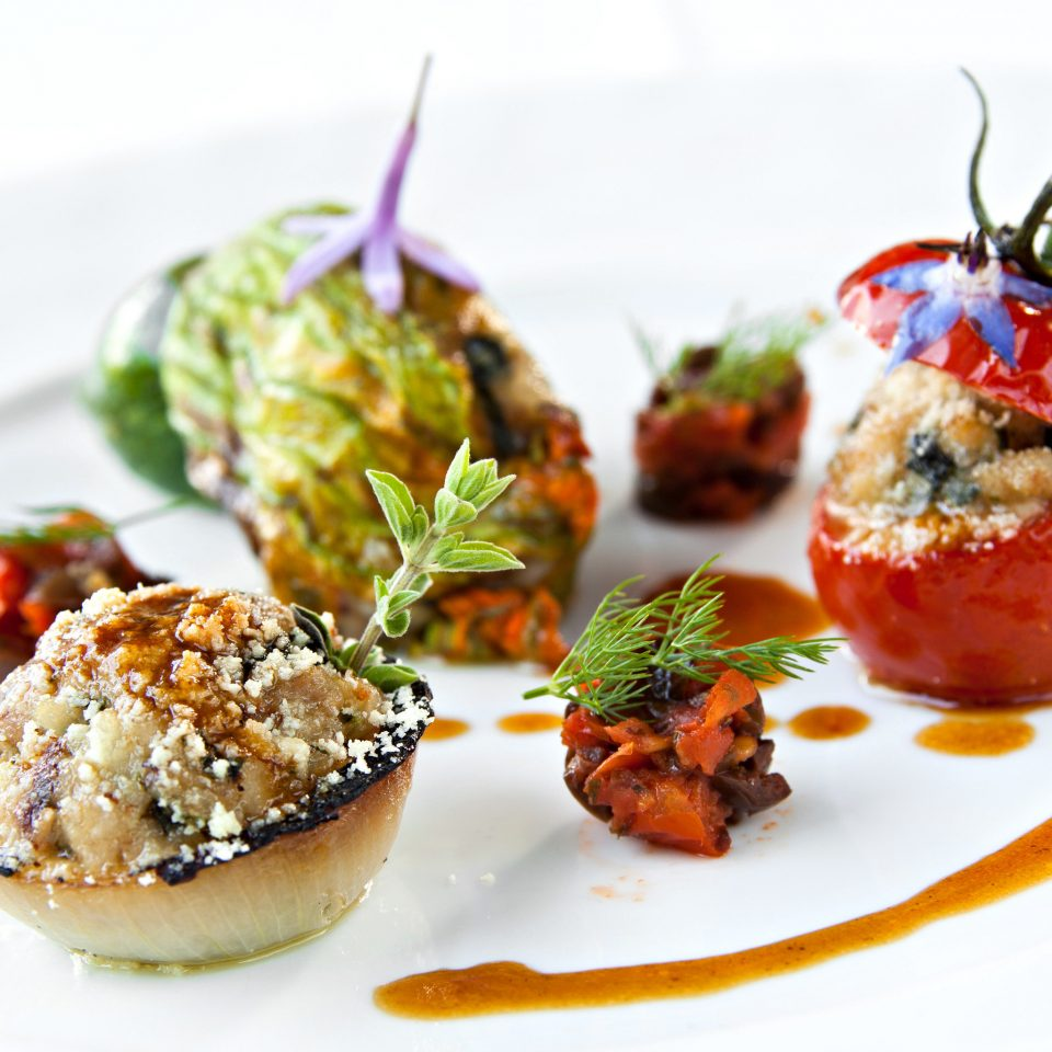plate food appetizer hors d oeuvre piece finger food cuisine vegetable vegetarian food recipe garnish arranged piece de resistance