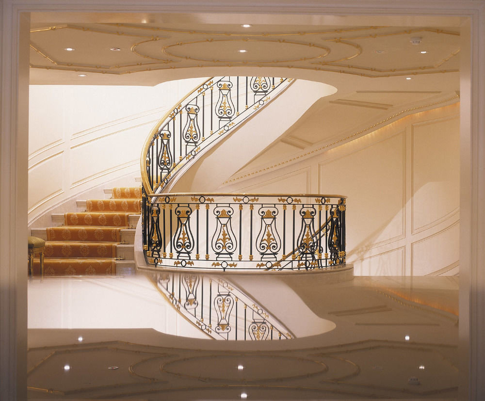 modern art stairs glass arch molding baluster handrail