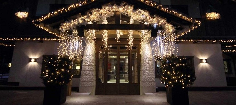 building christmas lights christmas decoration lighting place of worship night arch