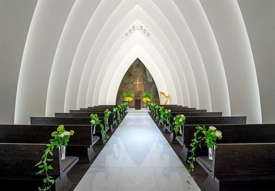 Architecture aisle arch plant daylighting chapel symmetry stairs