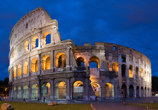 landmark building Architecture night ancient rome ancient roman architecture ancient history basilica palace arch