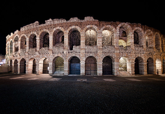 building stone landmark structure arch night brick Architecture ancient history old court colonnade