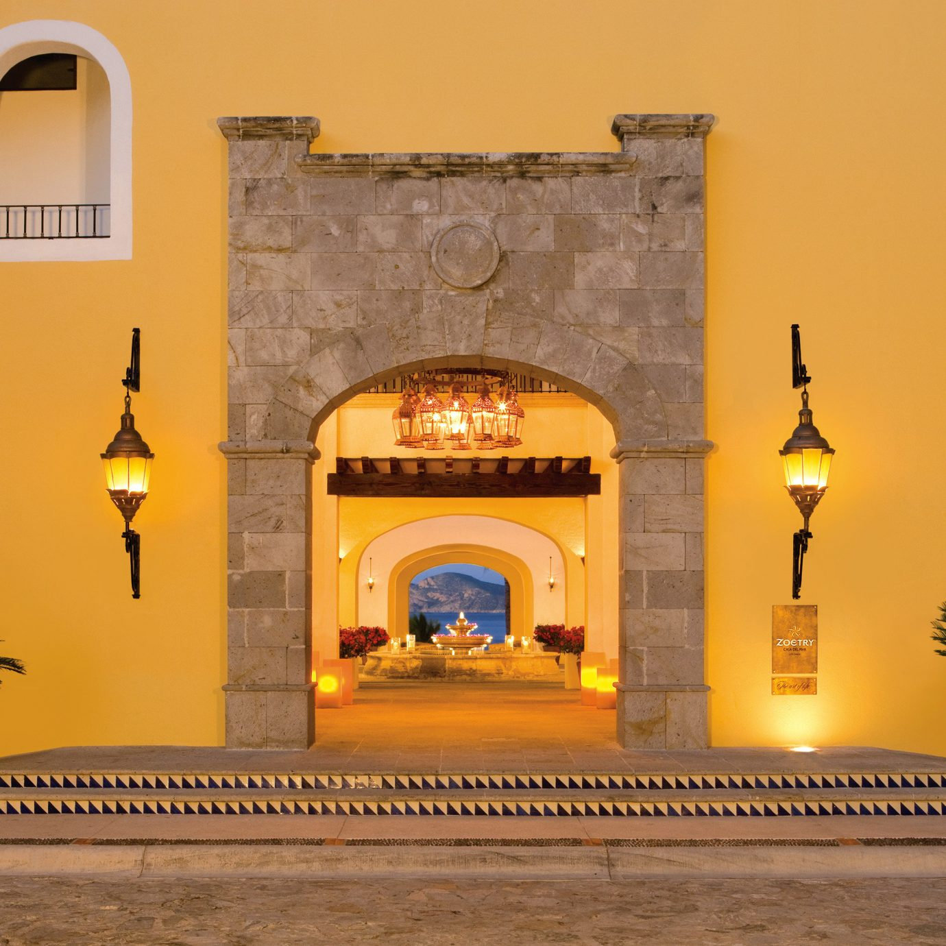 yellow Architecture arch lighting ancient history temple hacienda