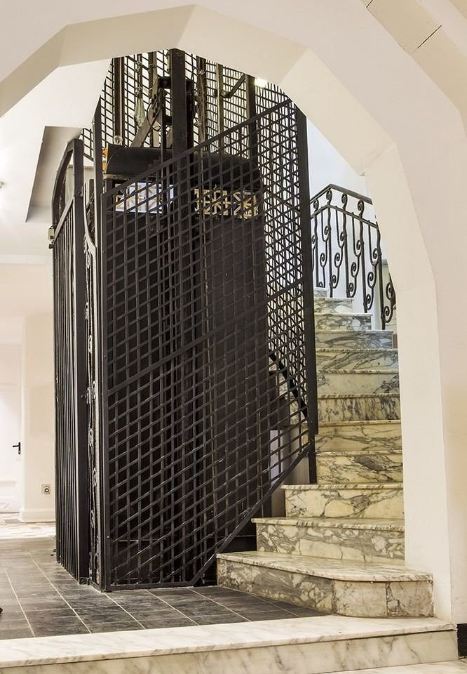 building Architecture arch step stair gate basement stone tiled