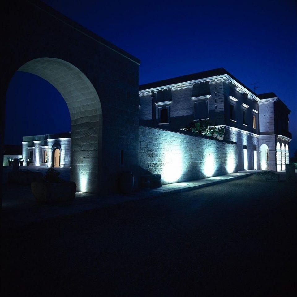 building night light darkness Architecture lighting shape dark arch