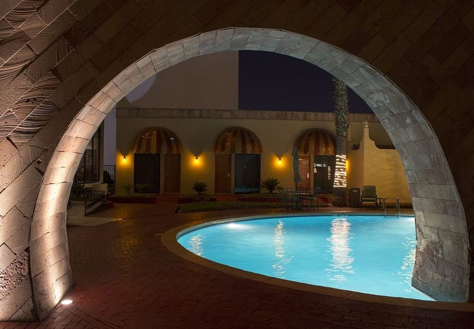 building swimming pool arch Architecture thermae hacienda stone