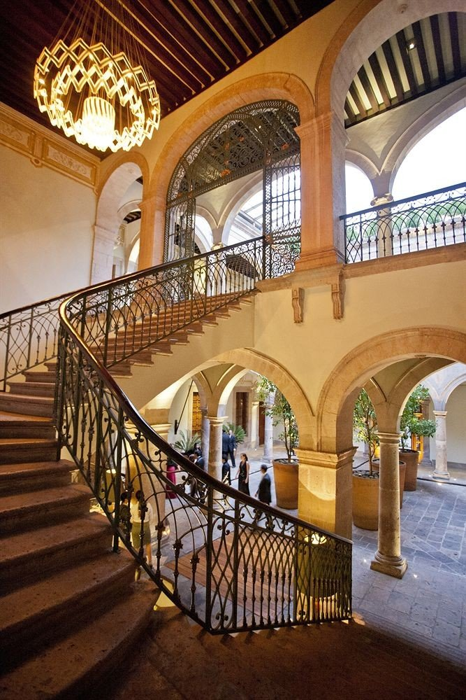 Architecture stairs arch metal palace hacienda stone walkway colonnade