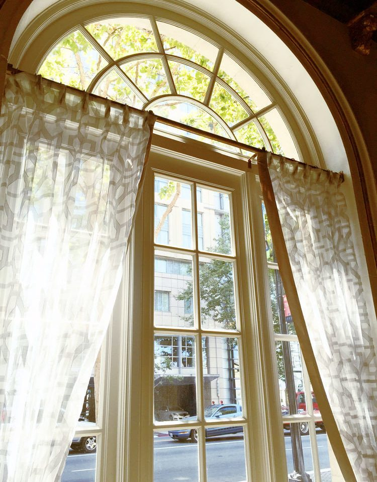 Architecture arch curtain daylighting home window treatment textile glass material