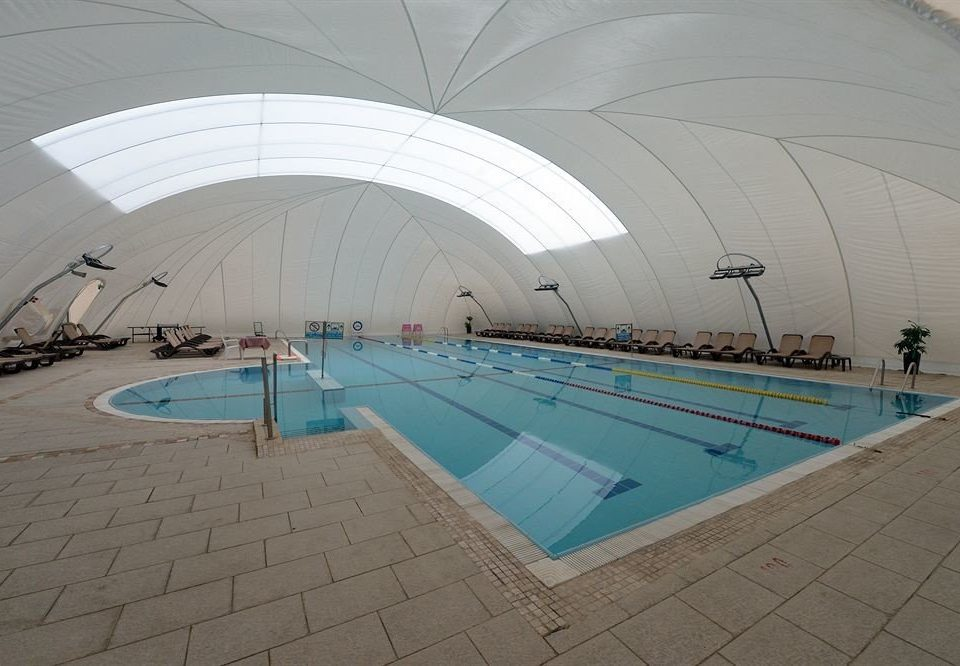 swimming pool leisure structure Architecture leisure centre sport venue daylighting green blue arena