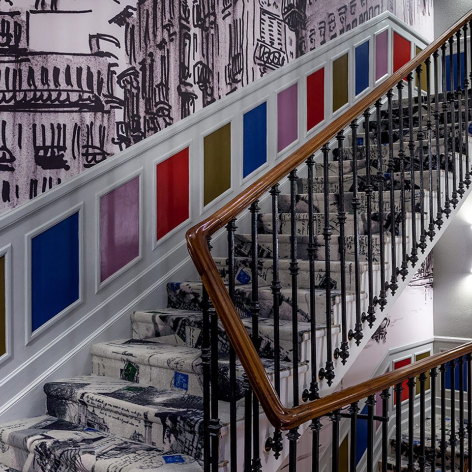 color stairs Architecture house art
