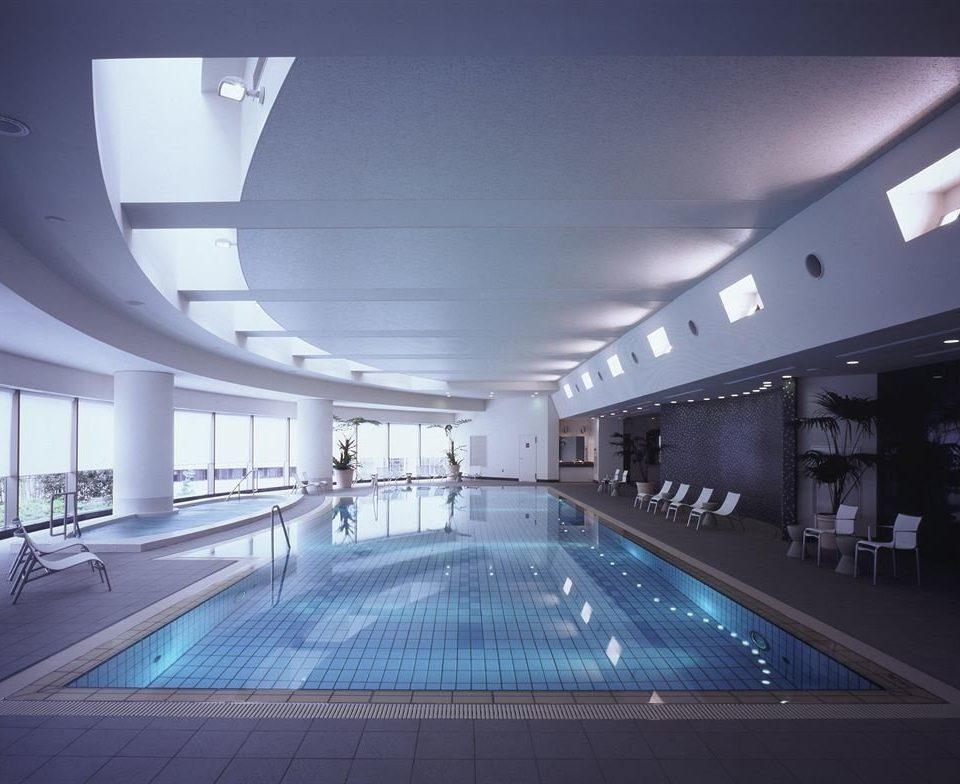 Architecture leisure centre auditorium swimming pool lighting daylighting convention center headquarters