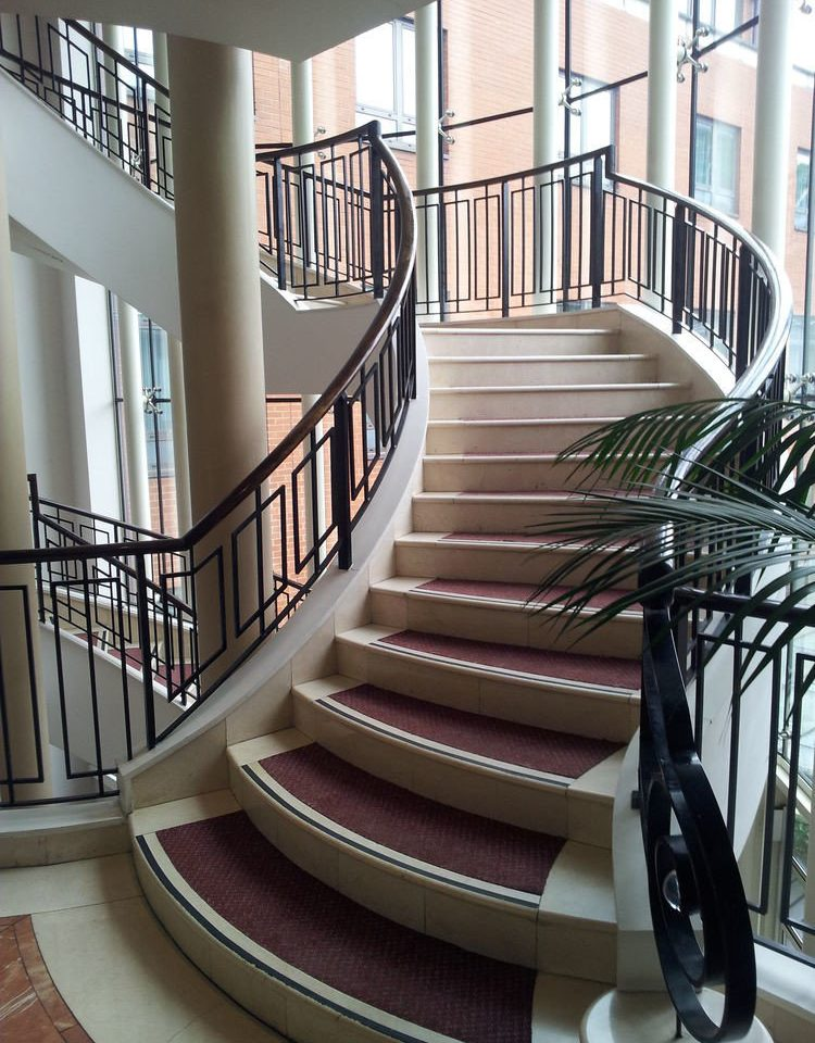 stairs handrail chair building baluster Architecture Balcony daylighting condominium step