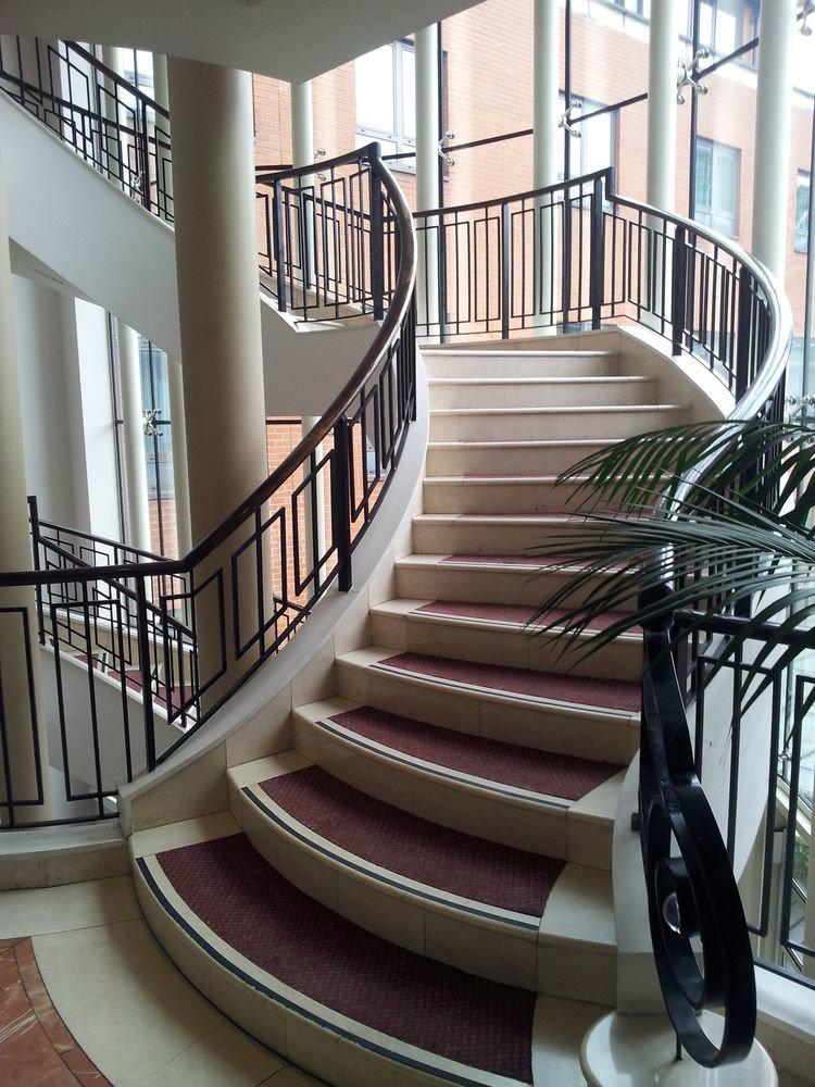 stairs handrail chair building baluster Architecture Balcony daylighting condominium step