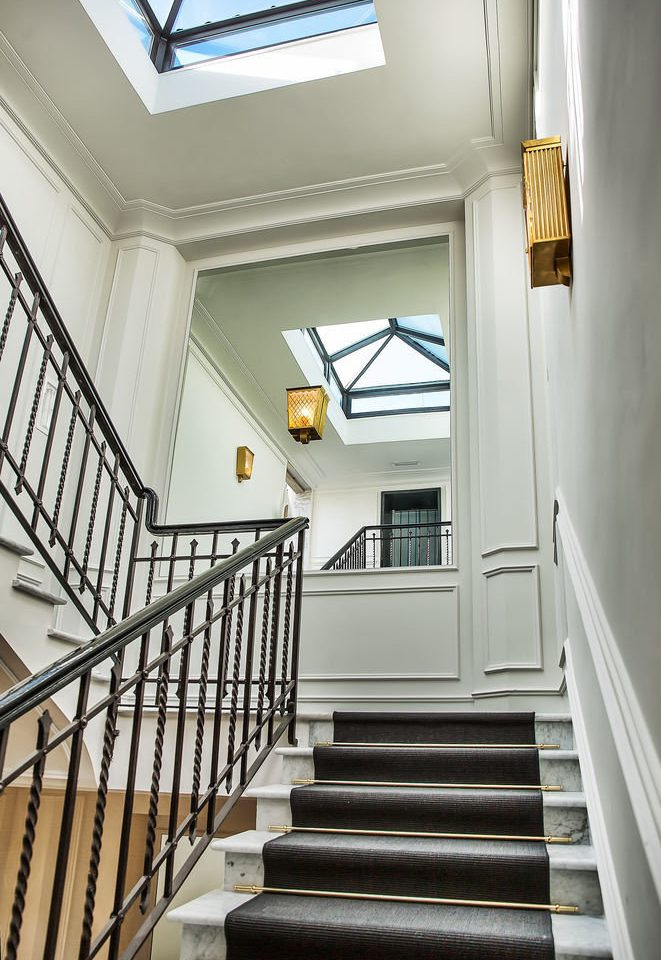 stairs building property house step home handrail Architecture daylighting Balcony hall living room porch baluster stair