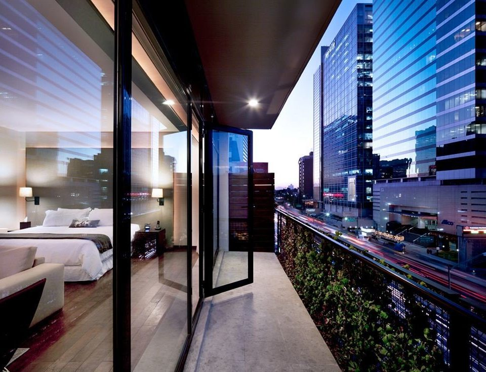 Balcony Bedroom City Modern building Architecture long lighting Lobby condominium convention center headquarters public transport