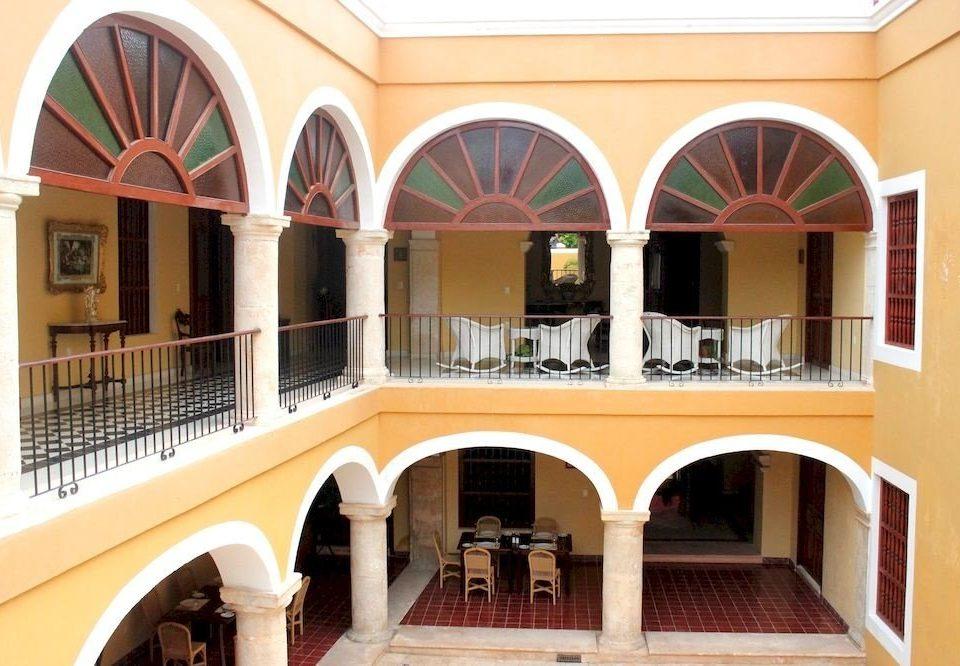 Balcony Boutique Budget Courtyard Tropical property building Architecture home Villa hacienda arch mansion colonnade