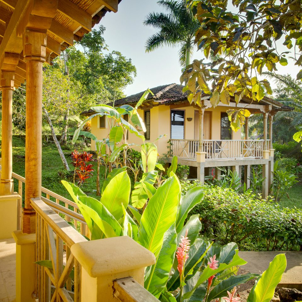 Architecture Balcony Buildings Deck Exterior Lodge Outdoors Rustic Scenic views tree property Resort house building plant porch home backyard flower Garden cottage Villa outdoor structure eco hotel hacienda Jungle