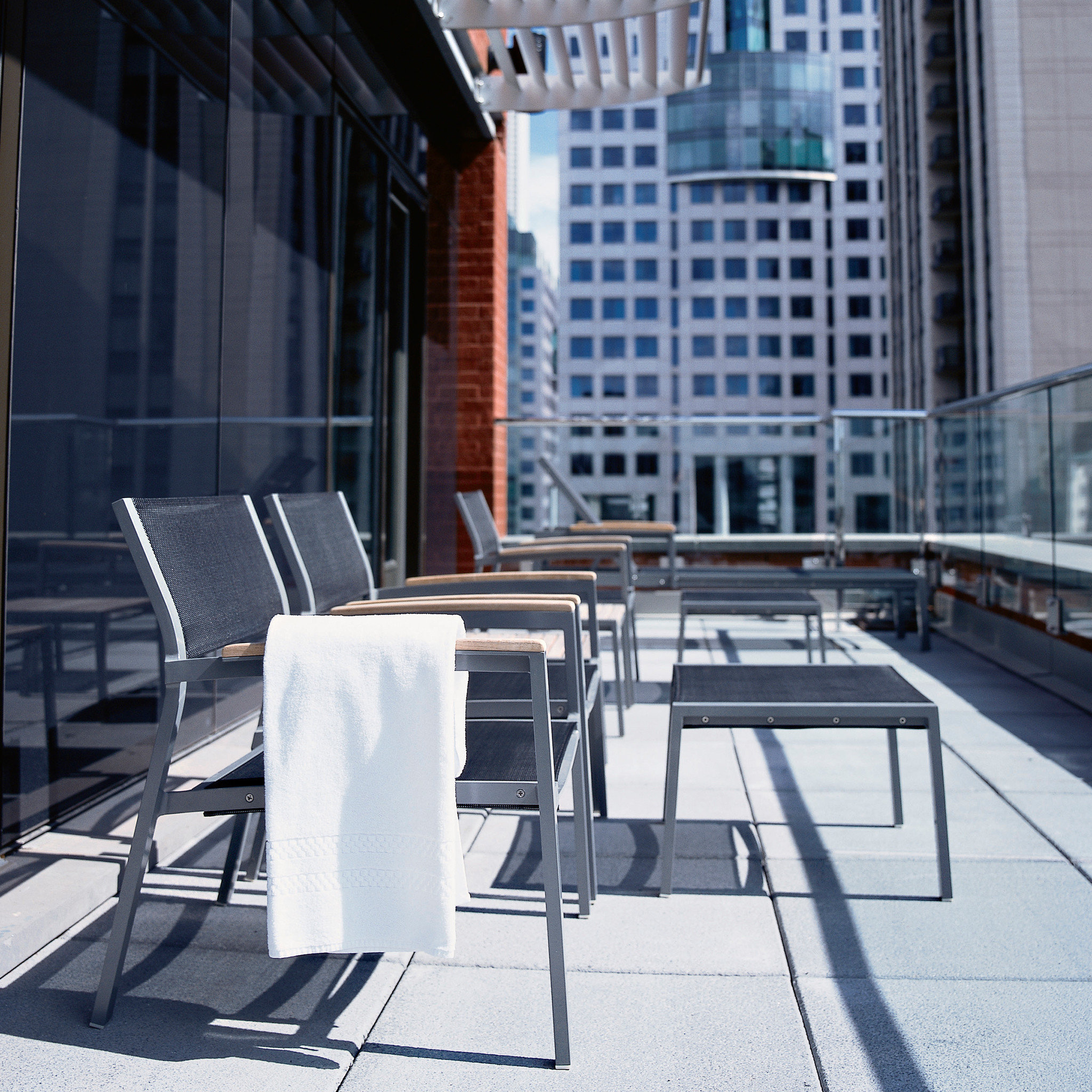 Balcony City Lounge Resort Scenic views building ground chair sidewalk Architecture condominium headquarters set