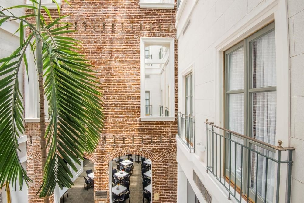 property home condominium house Architecture Courtyard Balcony plant mansion stone tiled