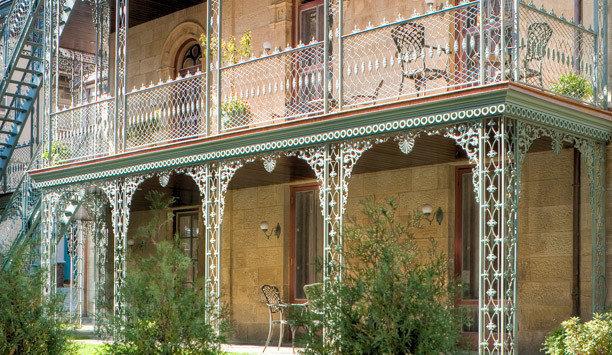 building Architecture Balcony house home outdoor structure mansion historic house Courtyard door stone Garden arch colonnade