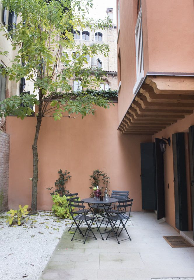 house property building home Courtyard Balcony Architecture backyard cottage Villa yard outdoor structure