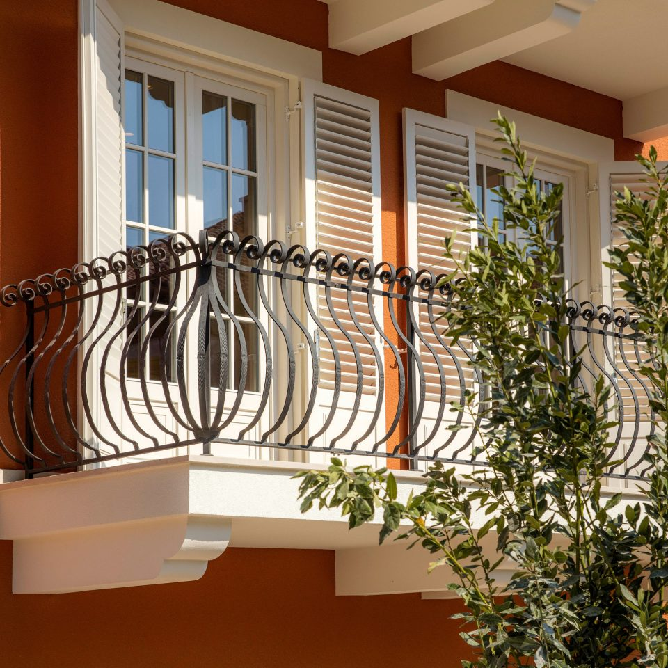building property house home Balcony Architecture porch baluster handrail stairs outdoor structure Villa cottage