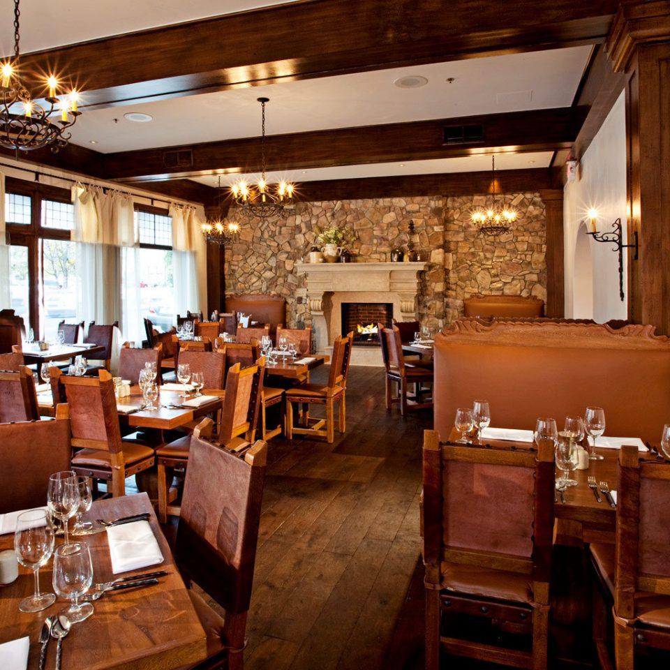 Architecture Boutique Dining Drink Eat Fireplace Rustic restaurant café Bar