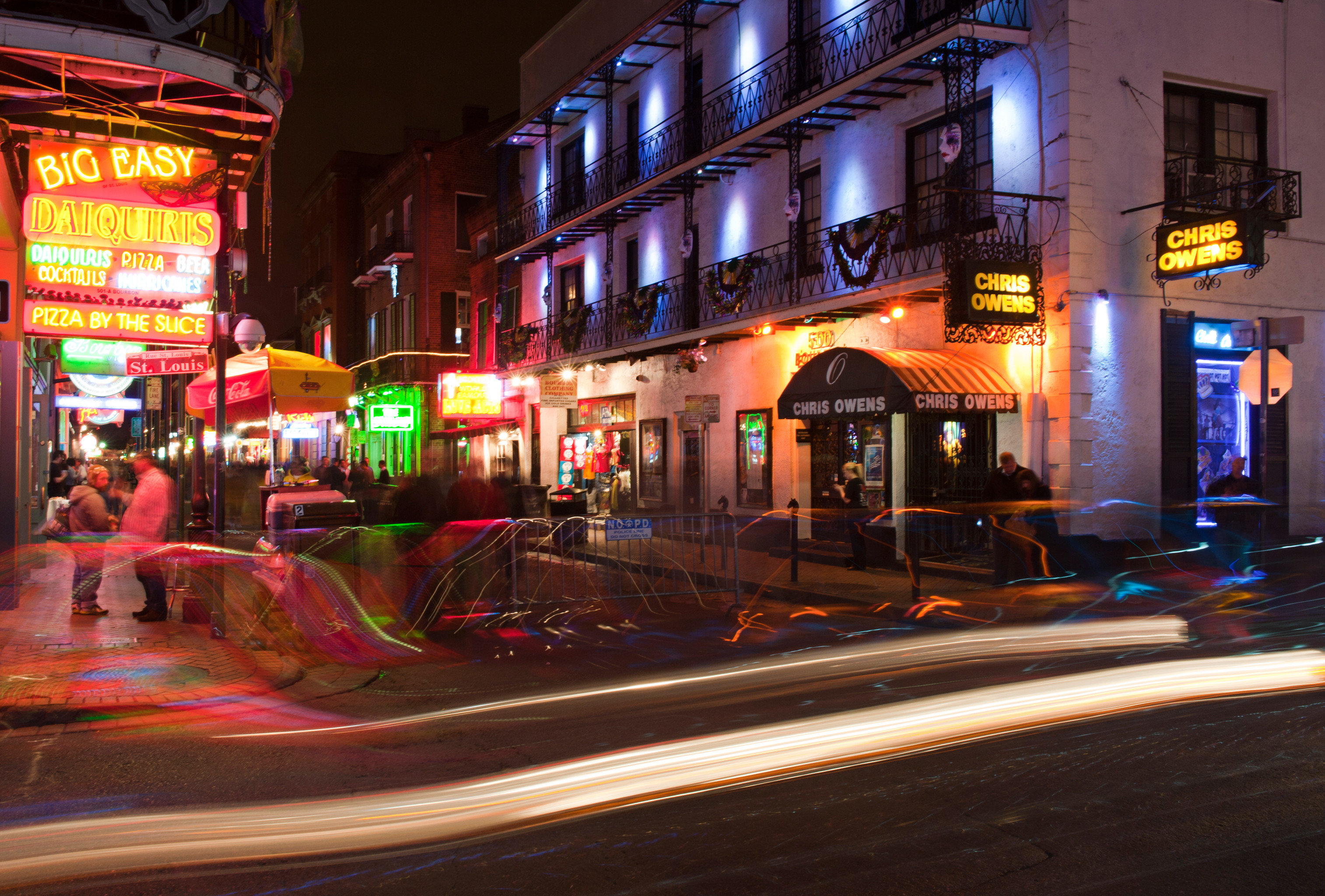 Architecture Buildings City Drink Eat Entertainment Landmarks Monuments Nightlife Scenic views Shop Town color road night street evening Downtown Bar restaurant cityscape