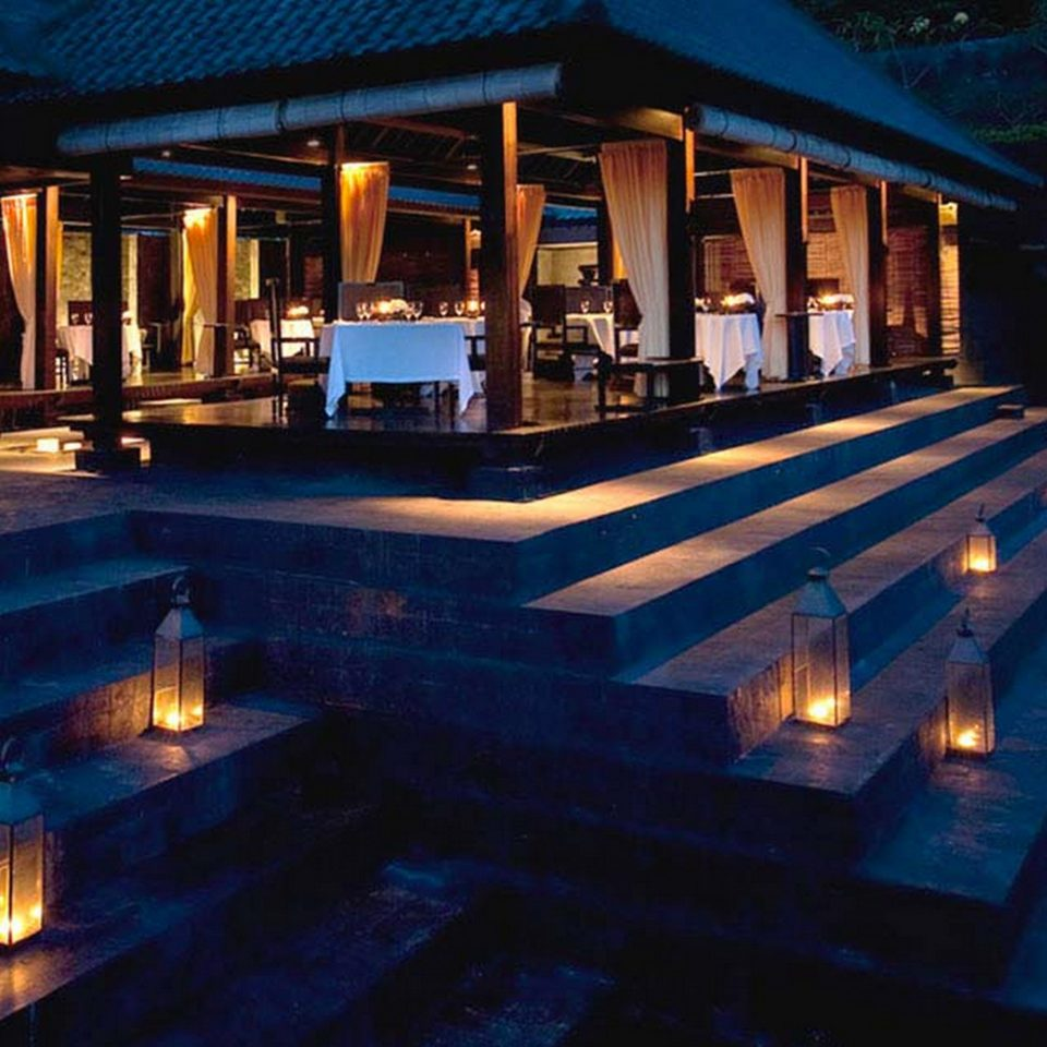 Architecture Buildings Exterior building swimming pool Resort landscape lighting lighting Bar night mansion restaurant