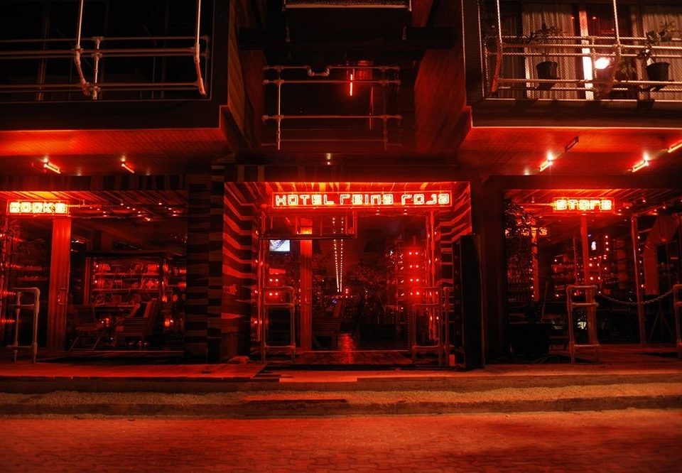Architecture Buildings Exterior Hip Modern red night stage Bar nightclub