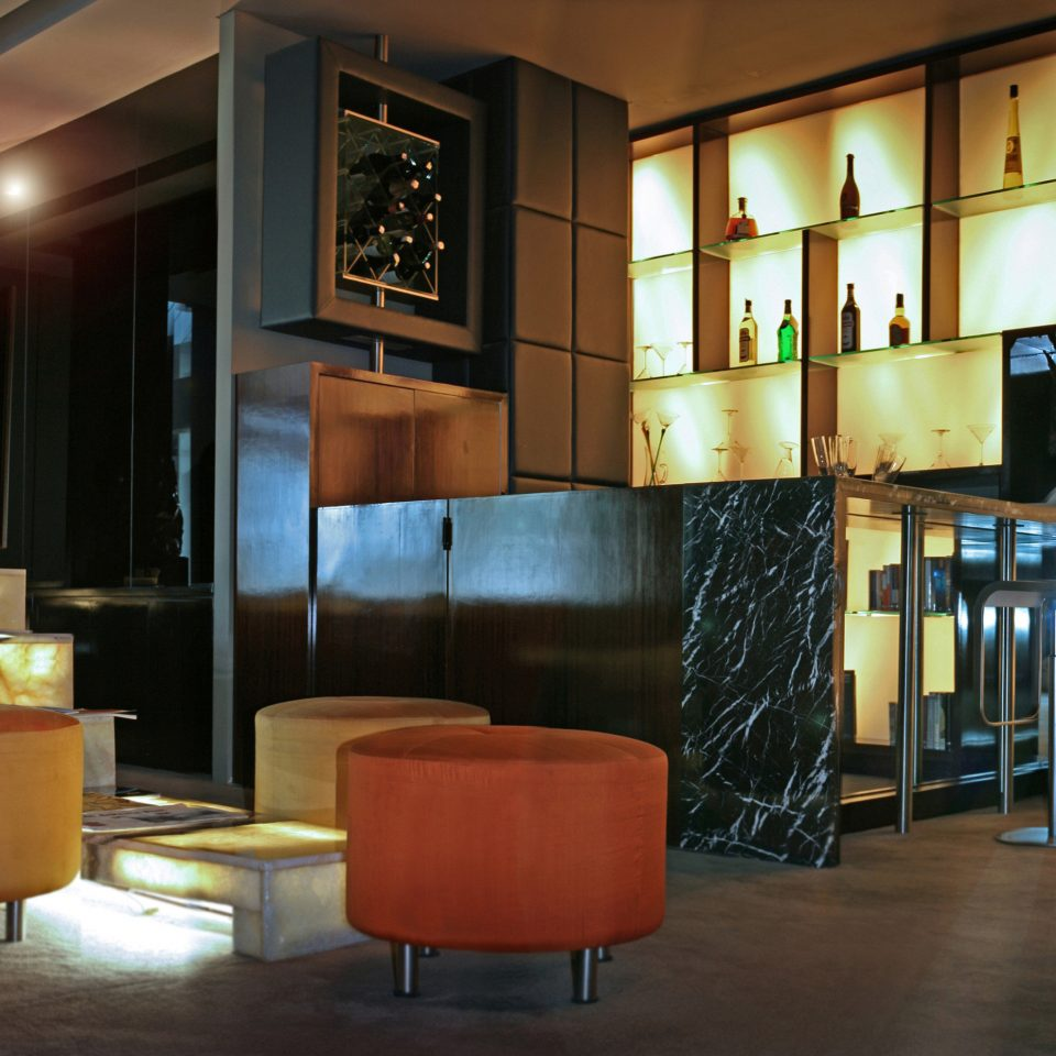Architecture City Lobby Lounge Modern orange restaurant living room Bar