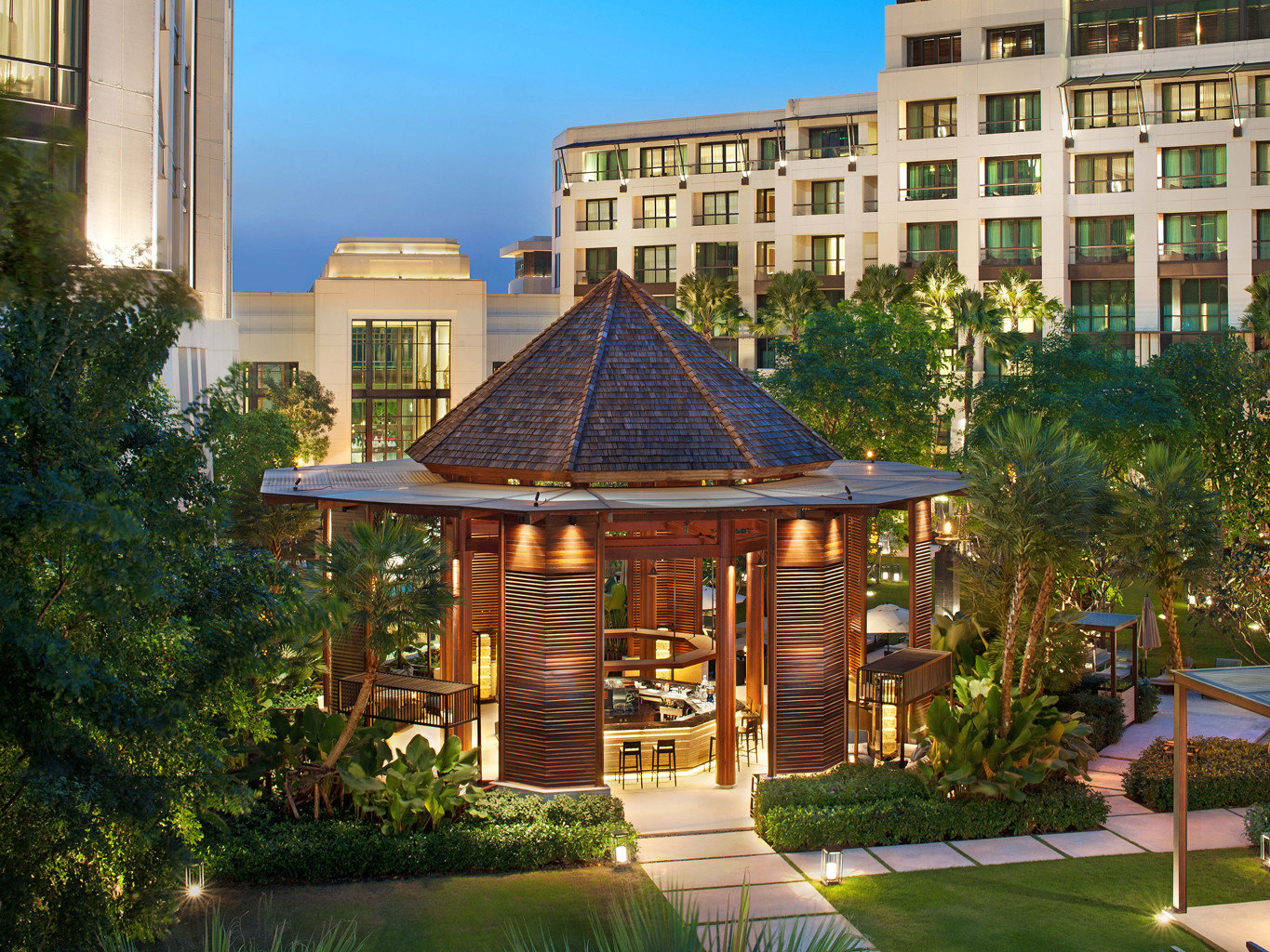 Bar City Modern Resort tree building house Architecture home condominium mansion outdoor structure palace