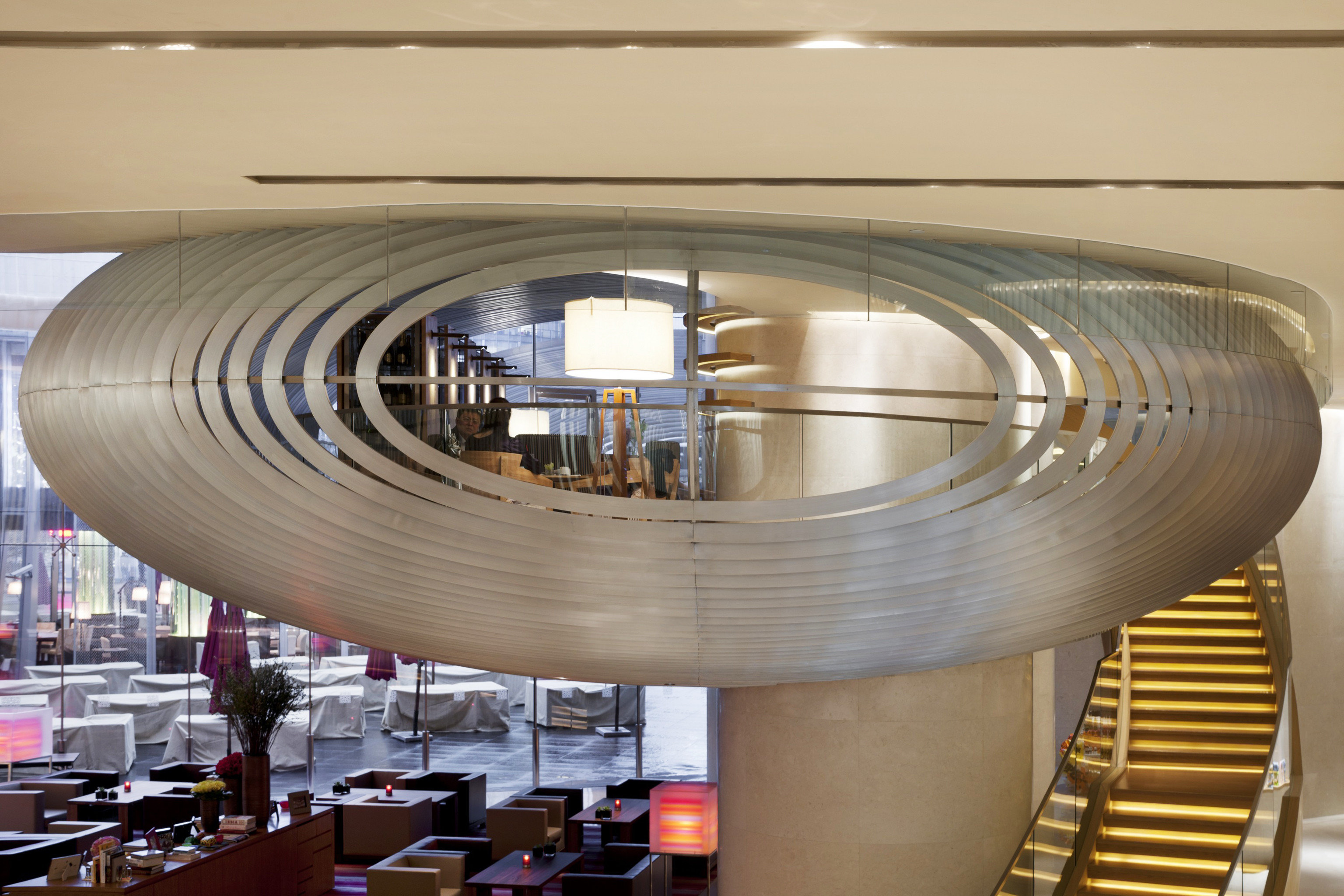 Bar Dining Drink Eat Luxury Modern Architecture daylighting lighting aircraft engine