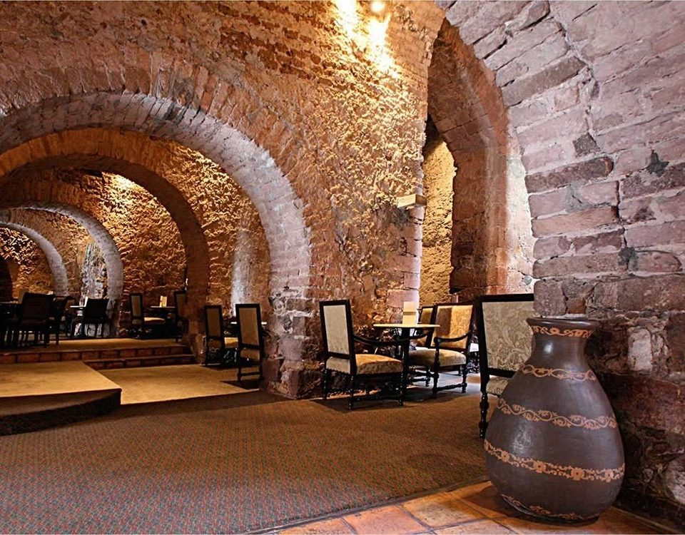 Bar Dining Drink Eat Historic Rustic building man made object arch Architecture Winery hacienda Lobby ancient history crypt synagogue tourist attraction stone