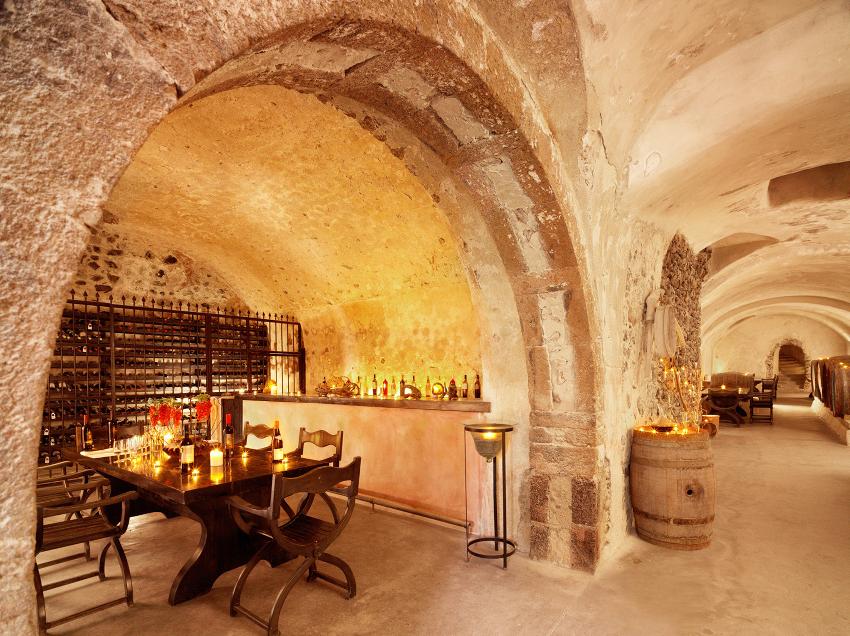Bar Dining Drink Eat Luxury Romantic chair arch Architecture ancient history crypt vault palace stone