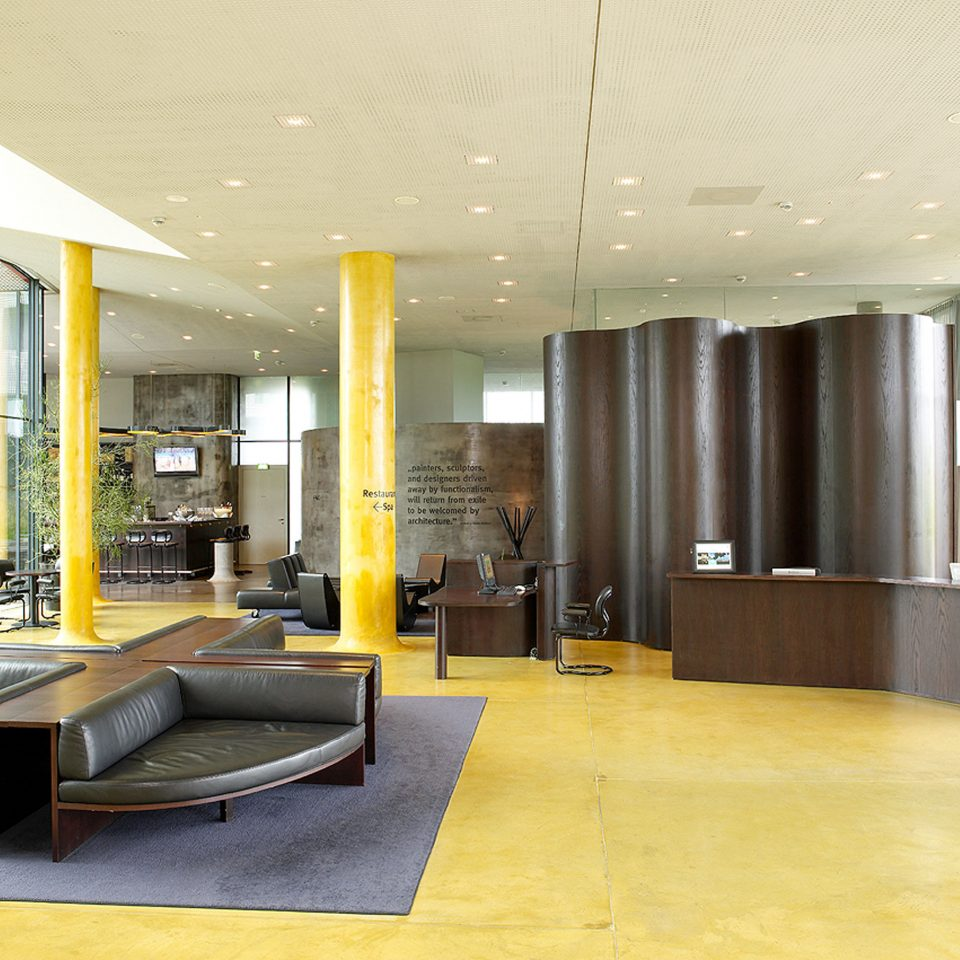 Bar Lobby Lounge Modern Vineyard property building yellow Architecture condominium living room home flooring headquarters waiting room office