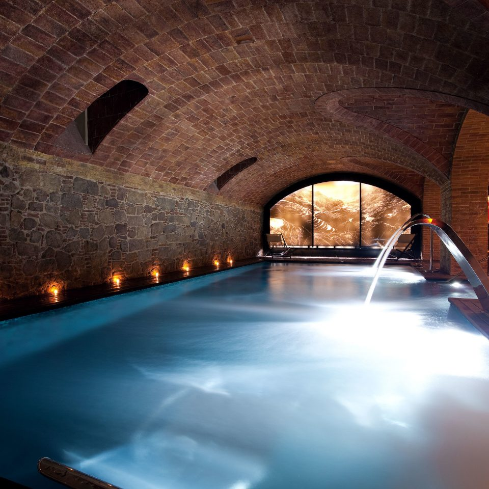 Barcelona Boutique City Hotels Pool Spa Spain building light Architecture night arch stone