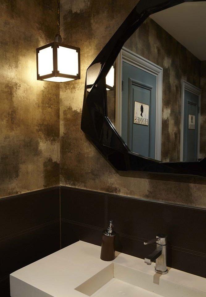 bathroom mirror house sink Architecture home lighting daylighting plumbing fixture public