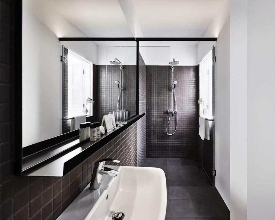 bathroom mirror white Architecture toilet sink house plumbing fixture interior designer tile tiled