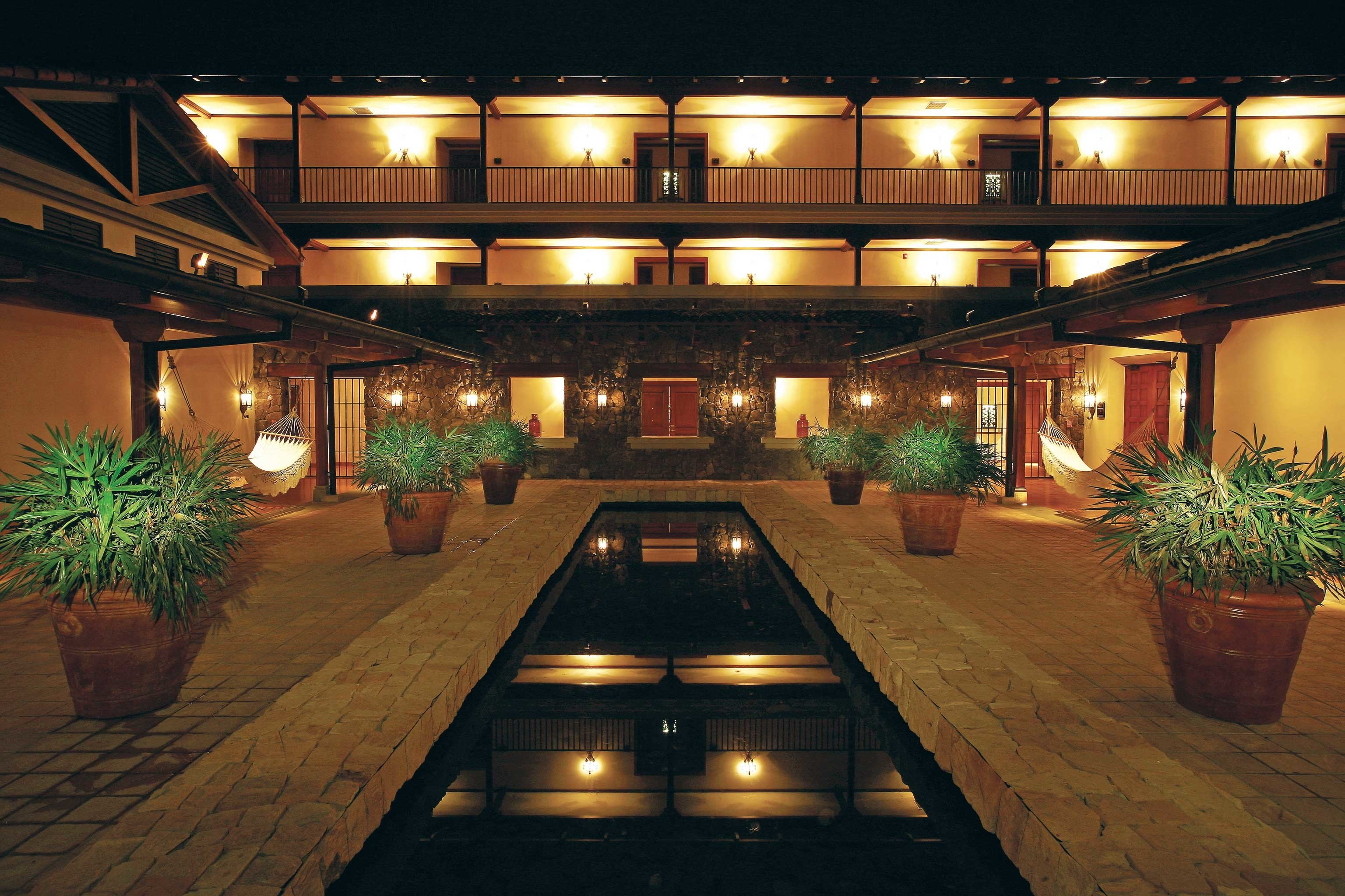Architecture Beach Buildings Exterior Hotels Luxury Modern Nightlife Lobby building night lighting convention center function hall