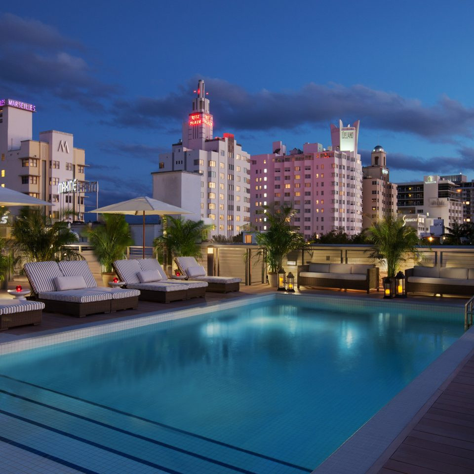 Architecture Beach City Pool Rooftop sky swimming pool condominium skyline cityscape Downtown Resort