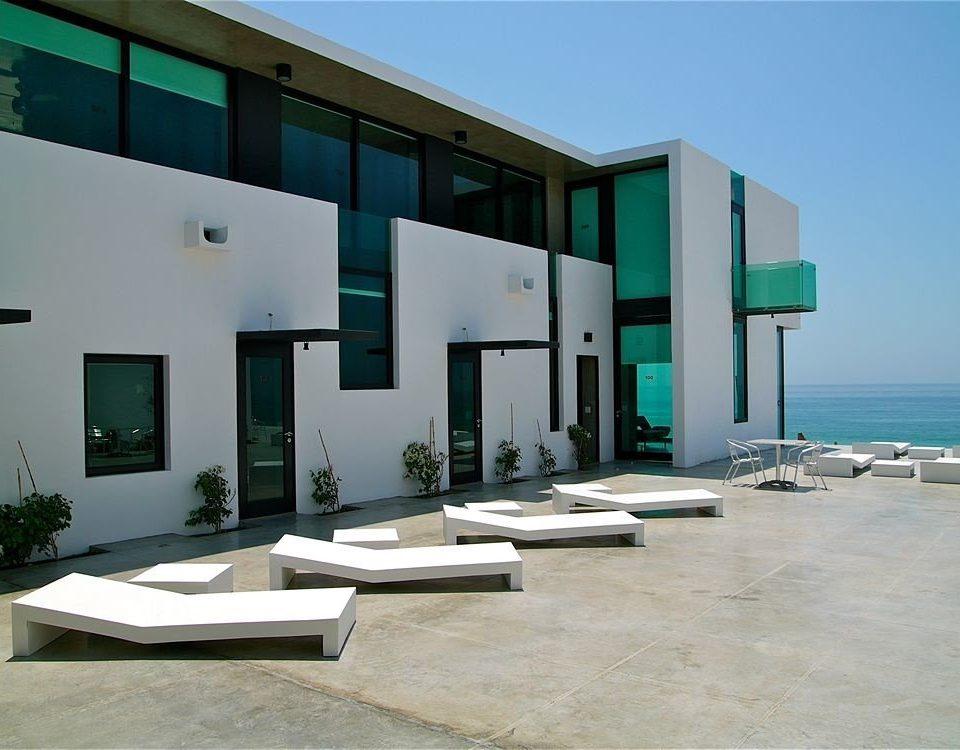 Architecture Beachfront Buildings Exterior Lounge Modern building property house home professional condominium headquarters Villa