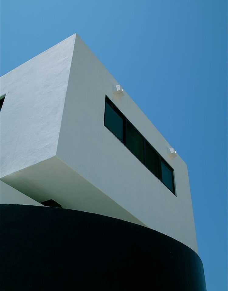 Architecture Beachfront Buildings Exterior Hip Modern sky white blue atmosphere of earth shape professional