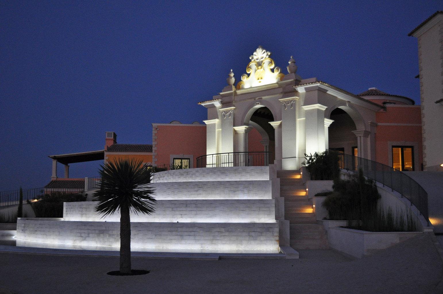 Beachfront Buildings Grounds Resort sky landmark house building night Architecture lighting place of worship chapel