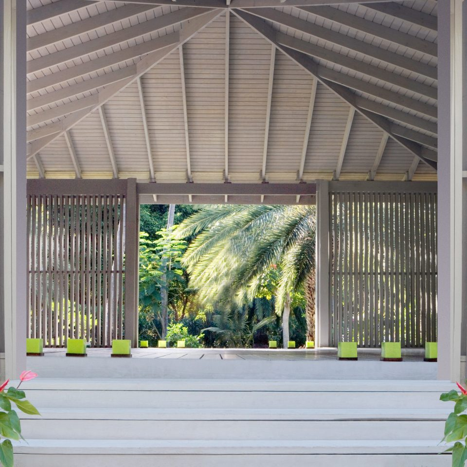 Beachfront Grounds Island Luxury Resort Tropical building house Architecture plant home shed siding porch outdoor structure