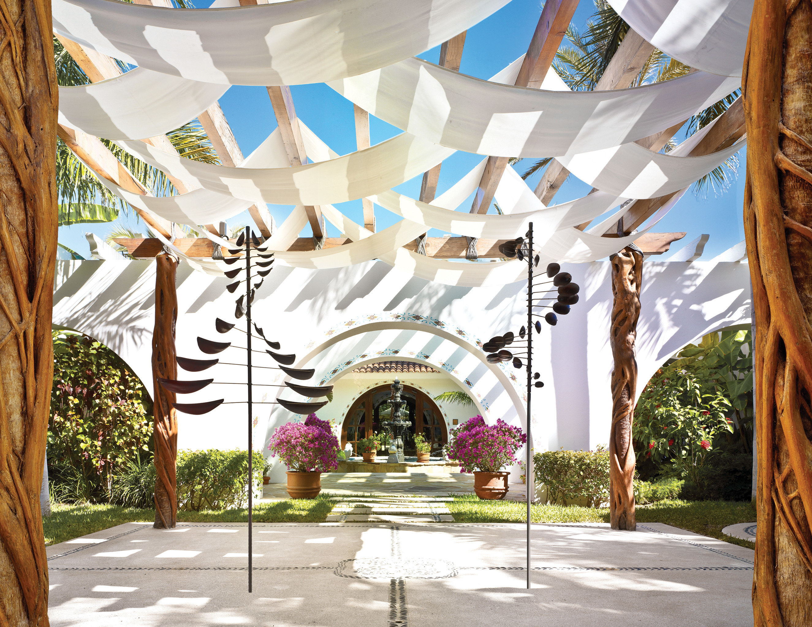 Beachfront Grounds Resort tree Architecture home art arch mural
