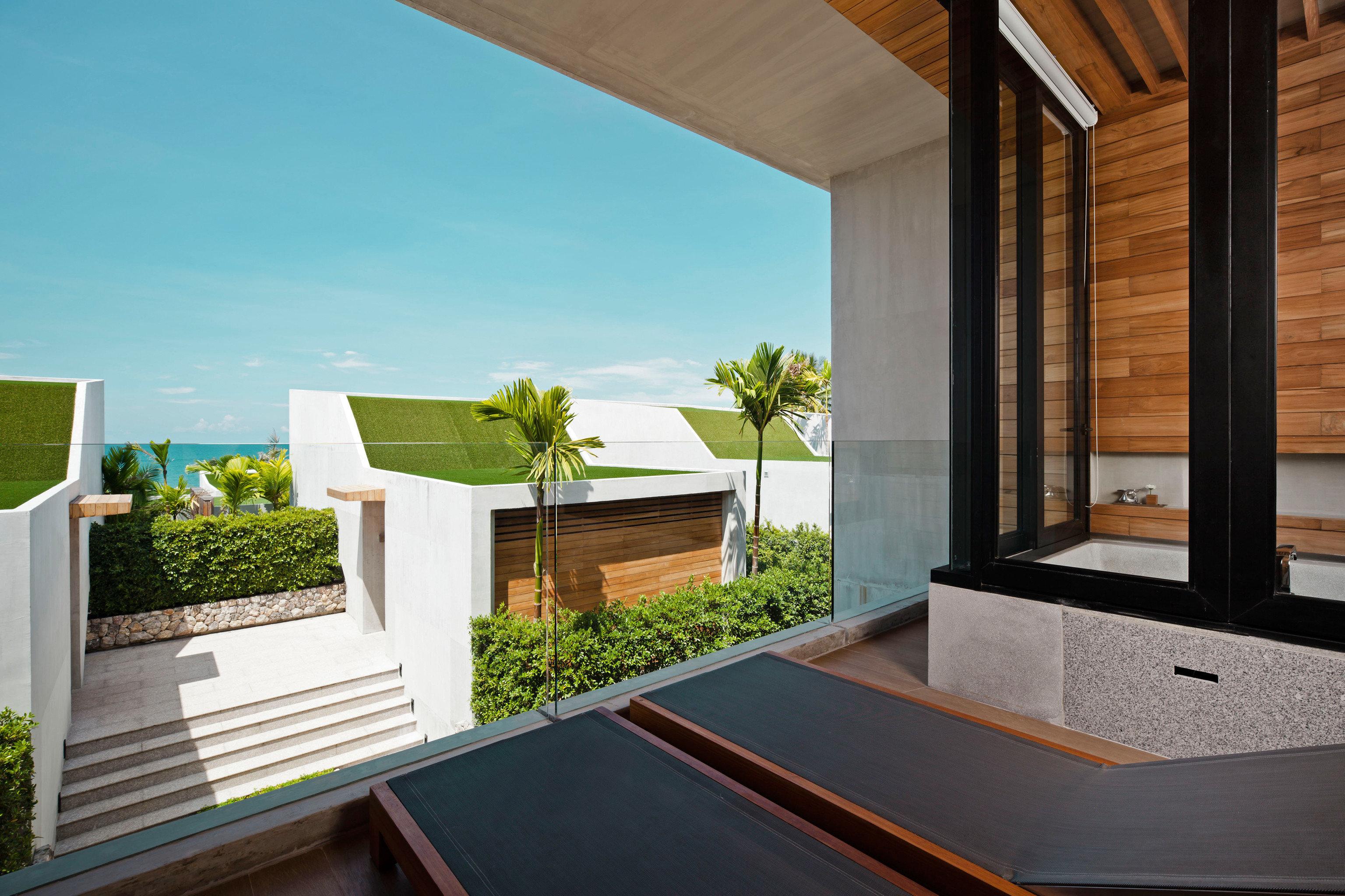 Beachfront Hip Modern Romantic Scenic views house property home Architecture professional Villa daylighting swimming pool condominium backyard