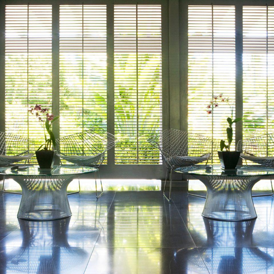 Beachfront Island Lobby Luxury Resort Tropical building property condominium Architecture home window treatment window blind