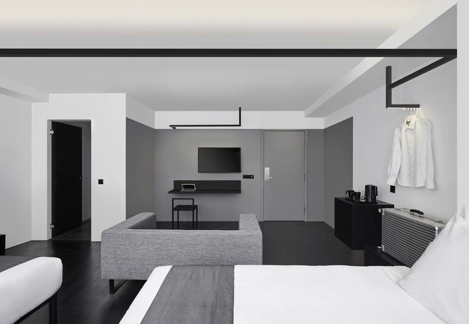 Architecture living room white product design Bedroom angle interior designer loft house flat black and white flooring